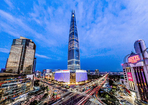 Lotte World Tower, entre la elegancia y el cielo